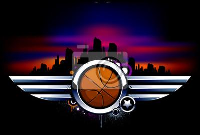 Koszykówka z metalowymi skrzydłami