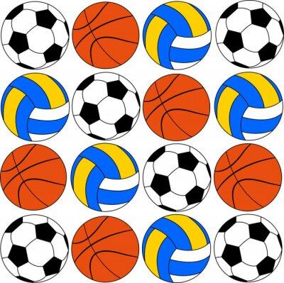 Naklejka koszykówki i siatkówki ikony piłek