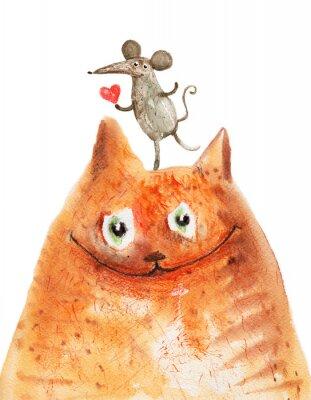Naklejka Kot z Mäuse