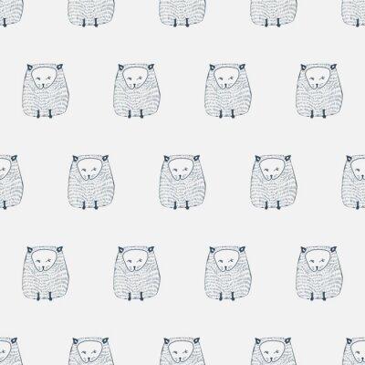 Naklejka Koty szwu. tło zwierzę. ilustracji wektorowych