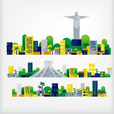 Naklejka krajobraz z Brazylii