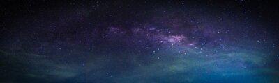 Naklejka Krajobraz z galaktyką Drogi Mlecznej. Nocne niebo z gwiazdami.