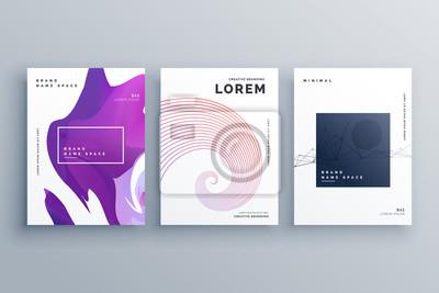 kreatywny wzór broszury szablon w formacie A4 minimalny styl