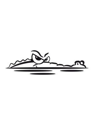 Naklejka Krokodyl Lauren wody