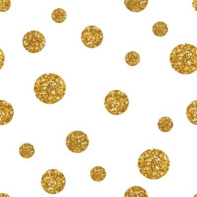 Naklejka Kropki szwu z złotym brokatem tekstury.