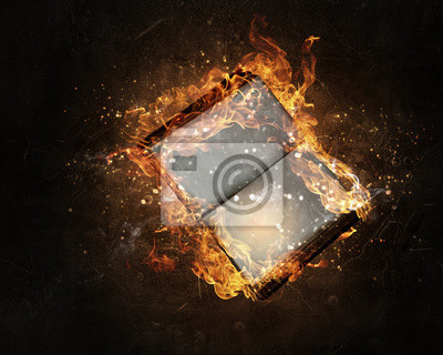 Książkę z pustych stron w ogniu