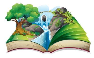 Naklejka Książki z obrazem lasu