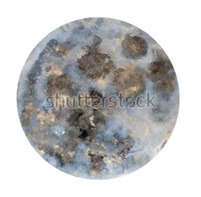 Naklejka Księżyc. Ilustracja akwareli