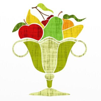 Naklejka kubek z owoców