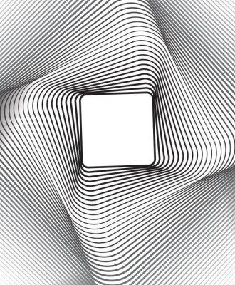 Naklejka kwadratowe optyczne sztuki czarnym tle