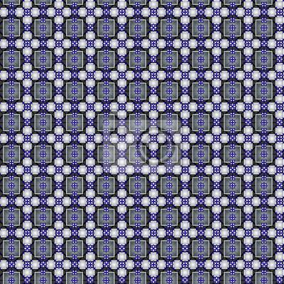 Kwadraty, romby, krzyże bez szwu wzór.