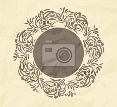 Kwiatów tle z ramką