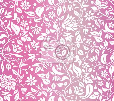 kwiatów, wzór, różowy, romantyk, róża, bez szwu