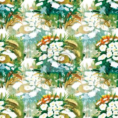 Kwiatowe kolorowe wiosenne kwiaty bez szwu