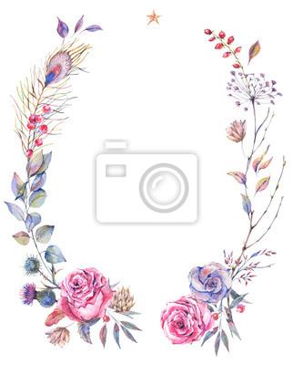 Kwiatowy pozdrowienia wieniec z róż