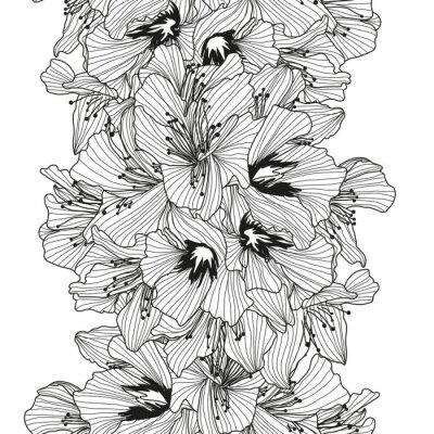 Naklejka Kwiatowy wzór bez szwu