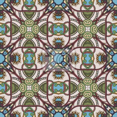 Kwiatowy wzór tła. Ethnic projektowe