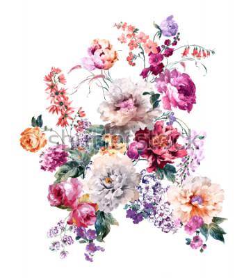 Naklejka Kwiaty noszą zapach wiosny, kwiaty i kwiaty