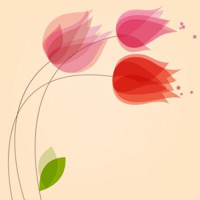 Naklejka Kwiecisty tło z tulipanami