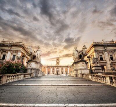 Naklejka La scalinata del Campidoglio, Rzym