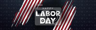 Naklejka Labor day September 2 background,united states flag, greeting card with brush stroke background in United States national flag colors, modern design vector illustration