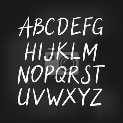 Łacińska alfabetu angielskiego, wektor proste czcionki