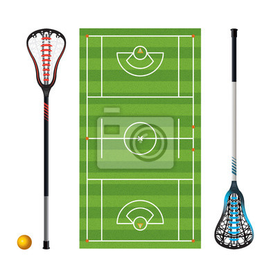 Lacrosse Field and Sticks and Balls