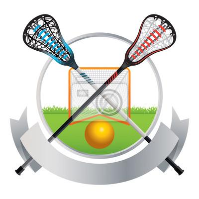Lacrosse Godło i Banner Design