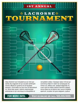 Lacrosse Turniej wydruku szablonu