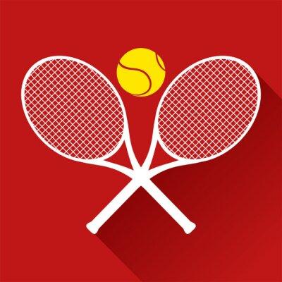 Naklejka ładne ikony tenisa