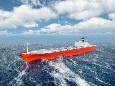Naklejka Ładunek statku w burzliwym oceanie