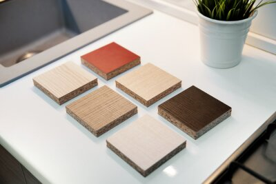 laminate furniture samples for kitchen worktops and cabinets