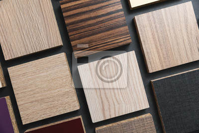 laminate material samples on dark black background