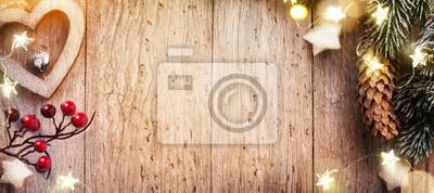 Lampka choinkowa; Widok z góry z miejscem na tekst