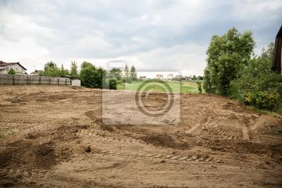 Naklejka land reclamation for property development