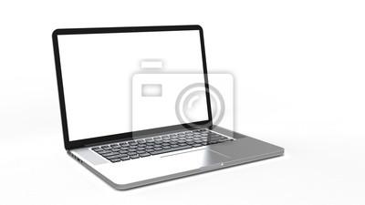 Naklejka Laptop na białym tle