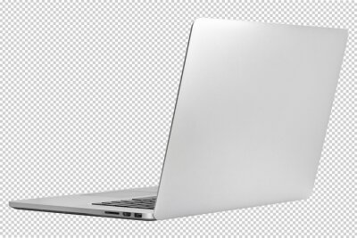 Naklejka laptop or notebook  isolated on transparent  background with clipping path