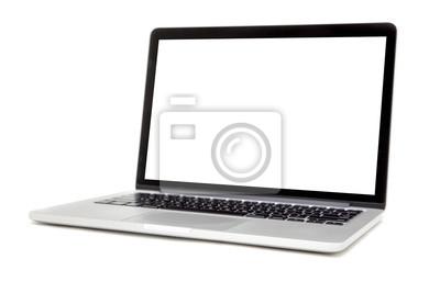 Naklejka Laptop samodzielnie na białym tle