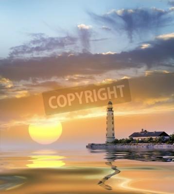 Naklejka latarnia morska