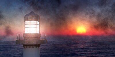 Naklejka Latarnia morska na wybrzeżu