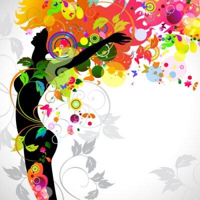 Lato dekoracyjnych kompozycji z dziewczyną