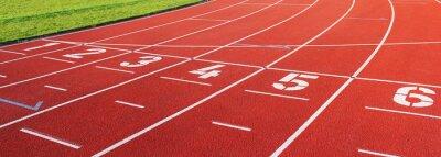 Naklejka Laufbahn sportu eins bis sechs