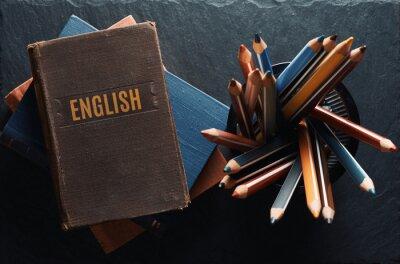 Naklejka learning english concept