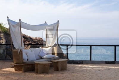 Naklejka leżak nad morzem