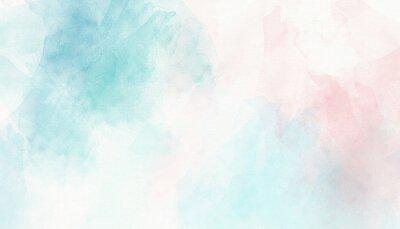 Naklejka Light pink blue pastel watercolor background