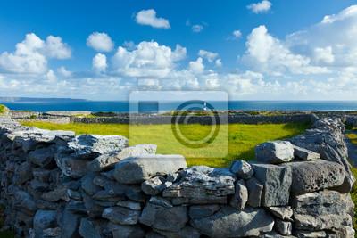Naklejka Lighthouse. Southern Island. Inisheer Island - Inis Oirr. Aran Islands, Galway County, West Ireland, Europe
