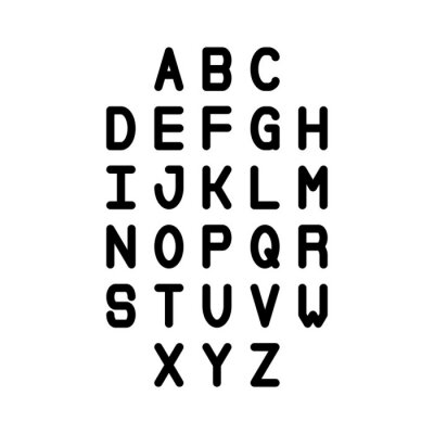 Line Stroke Font. Slim Latin English Alphabet Vector Typography on White Background. Vector illustration.phy on White Background.