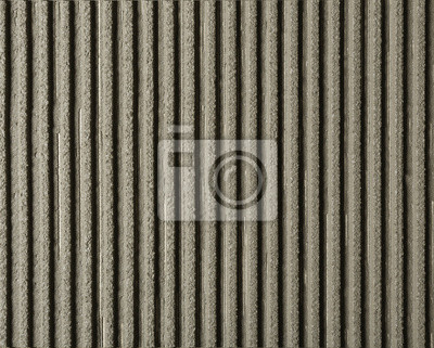 Lined grey concrete as background, top view. Tile installation