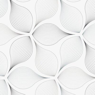 Naklejka liniowy wektor wzór, powtarzając streszczenie liści kwiatów, szara linia liści lub kwiatów, kwiatowy. czysty graficzny wzór tkaniny, wydarzenia, tapety itp. wzór znajduje się na panelu próbek.