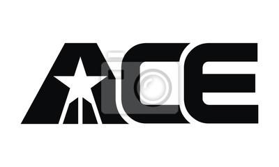 Naklejka List ACE nowoczesne logo
